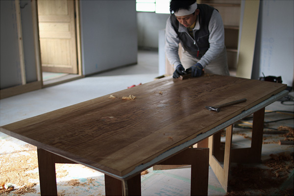 銘木 テーブル 加工
