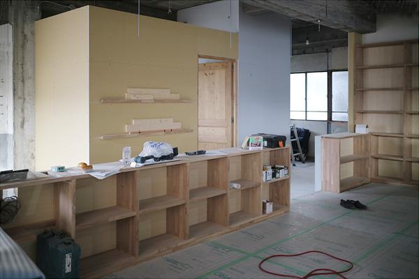 家具 本棚 オフィス施工