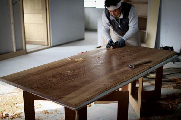 テーブル用銘木一枚板