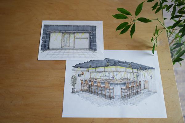 京都市中京区 和食店 店舗改装 デザインイメージ
