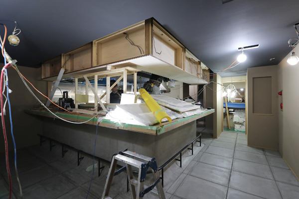 店舗リノベーション モルタル コンクリート デザイン店舗 京都市中京区