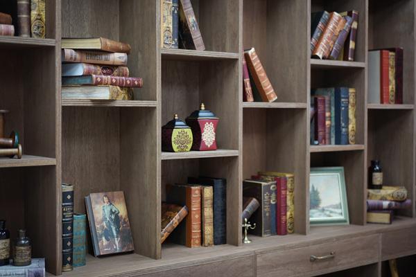 作り付けの本棚 店舗リノベーション