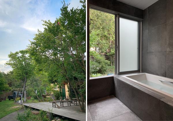京都市右京区 京北町のセカンドハウスの浴室工事